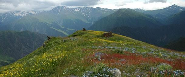 De bergen van Tusheti