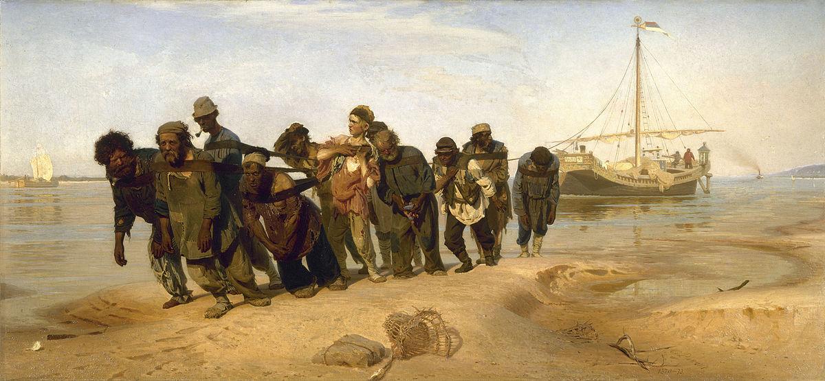 de Wolgaslepers van Ilja Repin