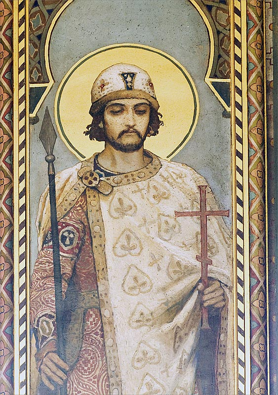 Sint Boris door Michail Nesterov