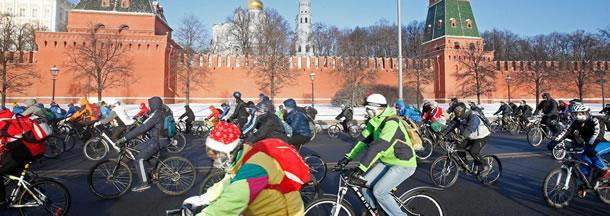 Fietsparade Moskou